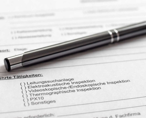 Dokumentation eines Wasserschadens für die Versicherung von Thermodetect GmbH
